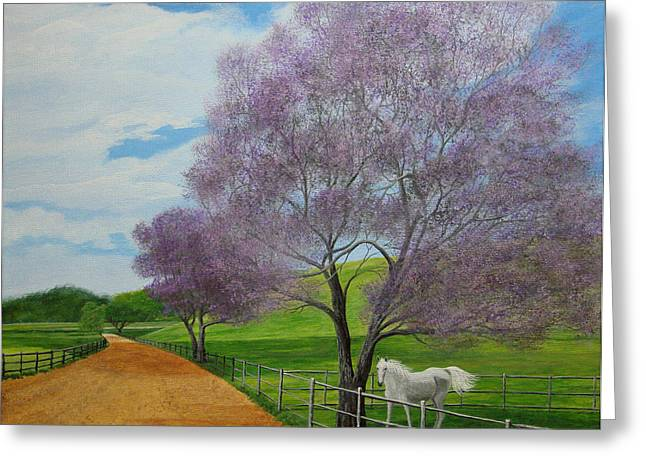 Maui Upcountry Greeting Card by Jeffrey Oldham