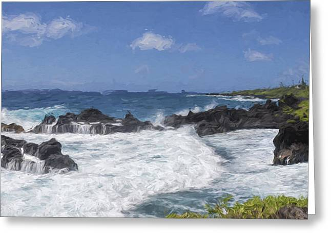 Maui Waters II Greeting Card by Jon Glaser