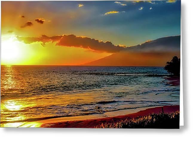 Maui Wedding Beach Sunset  Greeting Card