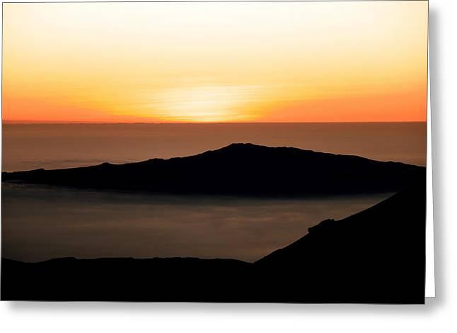 Greeting Card featuring the photograph Mauna Kea Sunset by Jennifer Ancker