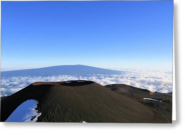 Mauna Loa In The Distance Greeting Card
