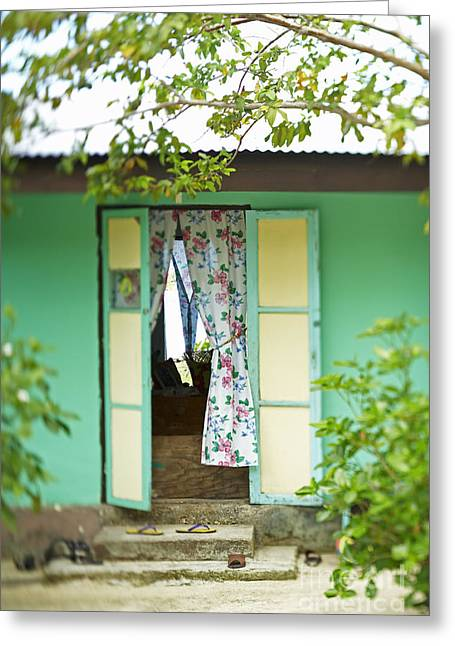 Maupiti Doorway Greeting Card by Kyle Rothenborg - Printscapes
