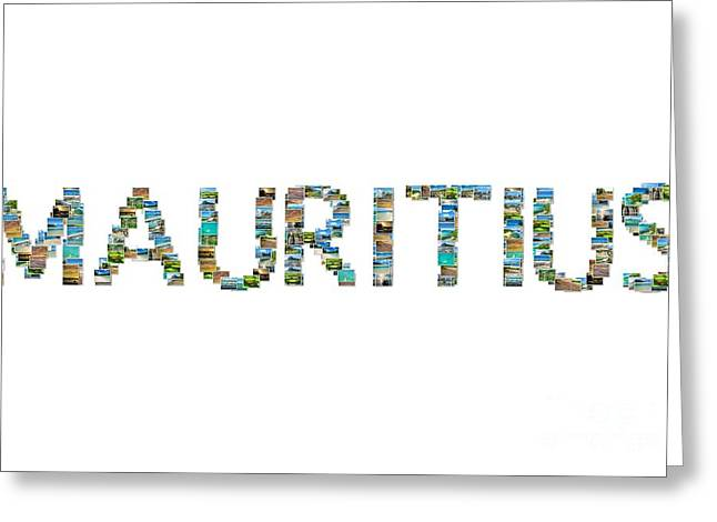 Mauritius Pictures Collage Greeting Card