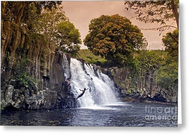 Mauritius Rochester Falls Greeting Card