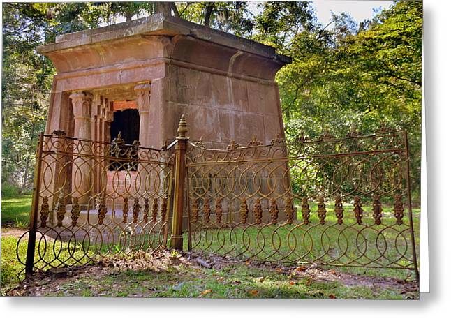 Mausoleum At Chapel Of Ease St. Helena Island Beaufort Sc Greeting Card