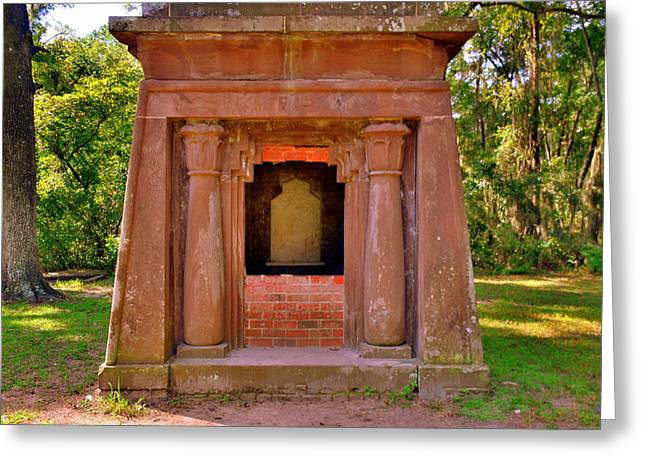 Mausoleum At St. Helena Islands,chapel Of Ease Bluffton Sc Greeting Card