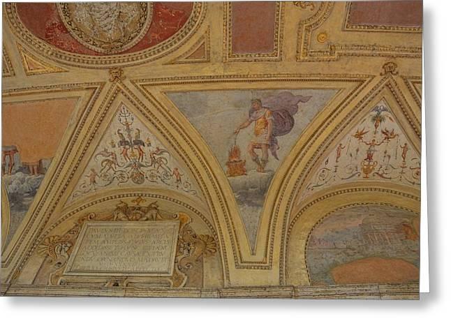 Mausoleum Frescos Greeting Card by JAMART Photography