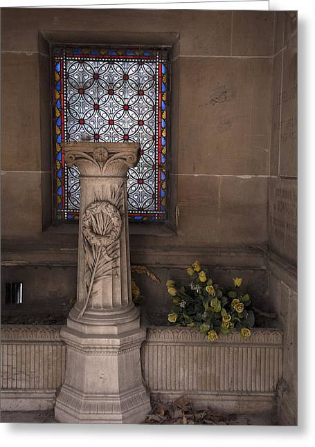 Mausoleum Interior Greeting Card by Michael Riley