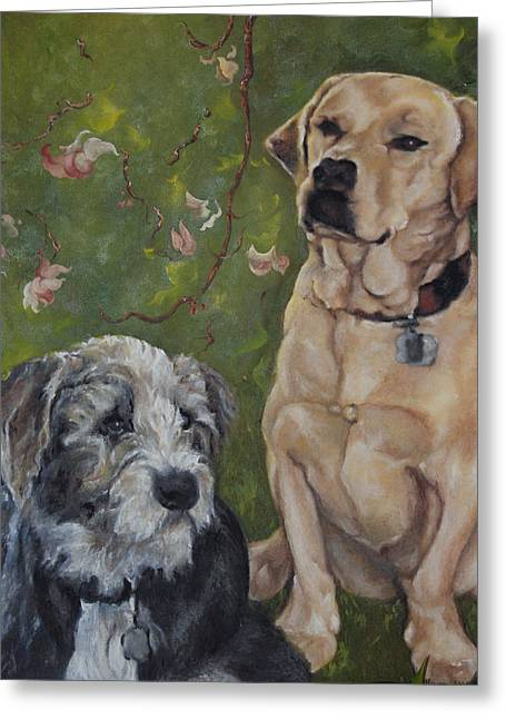 Max And Molly Greeting Card