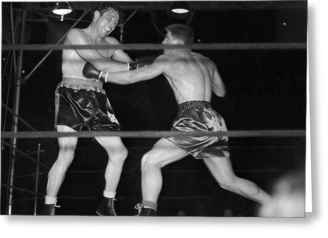 Max Baer And Lou Nova Boxing Greeting Card by Underwood Archives