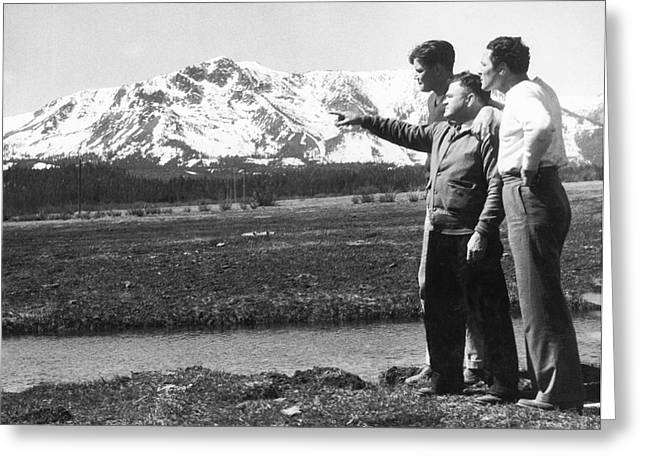 Max Baer At Lake Tahoe Greeting Card by Underwood Archives