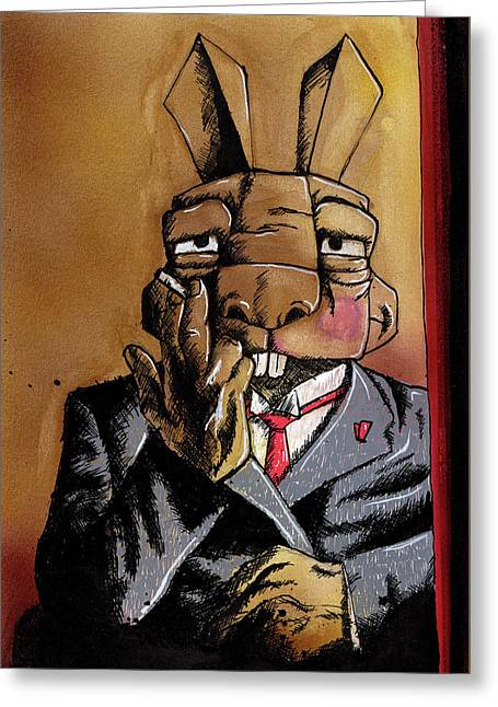 Max Bunnymann Greeting Card
