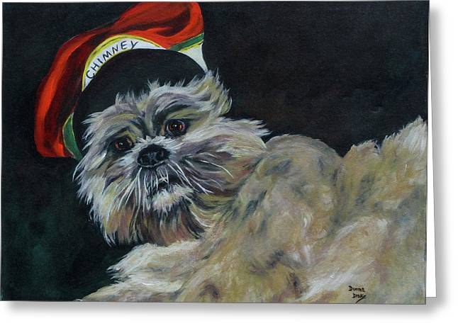 Max In Red Hat Greeting Card