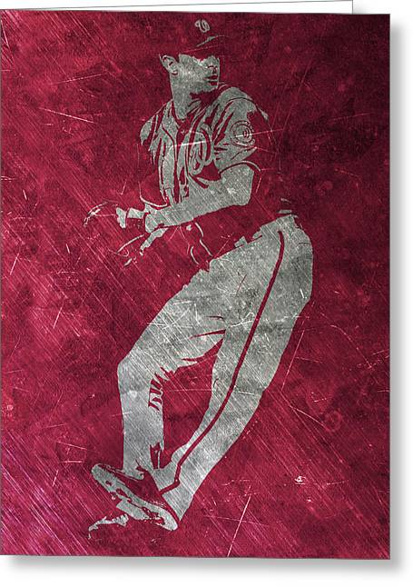 Max Scherzer Washington Nationals Art Greeting Card