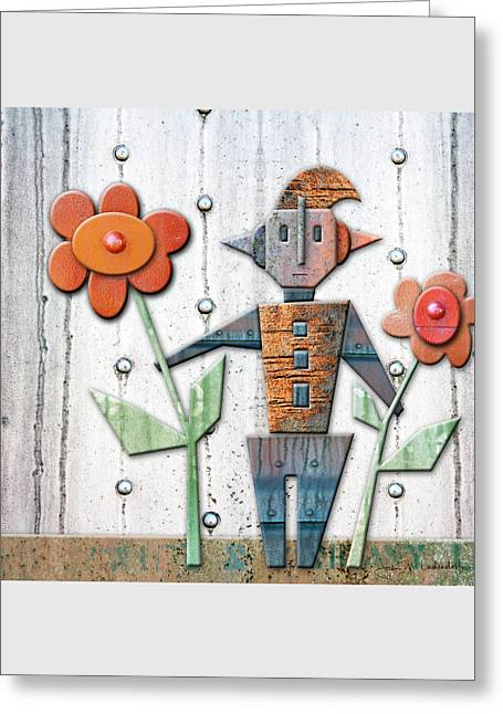 Max The God Of May Greeting Card by Joan Ladendorf