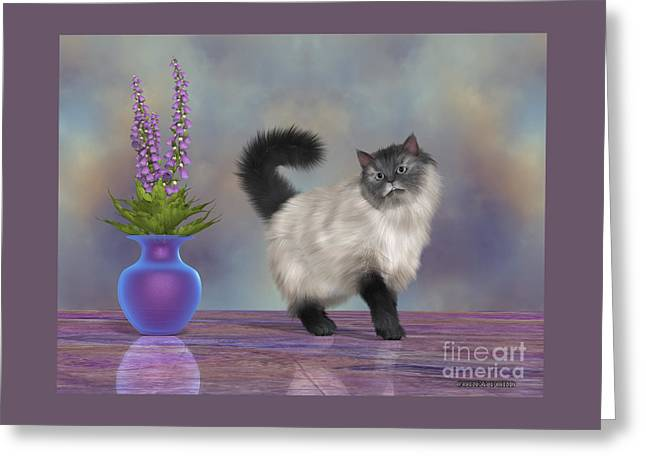Max The House Cat Greeting Card by Corey Ford