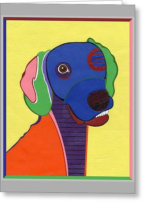 Max The Weimaraner Greeting Card