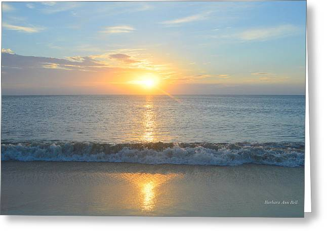 Greeting Card featuring the photograph May 23 Sunrise by Barbara Ann Bell