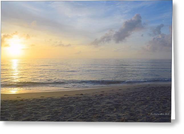Greeting Card featuring the photograph May 28th Sunrise by Barbara Ann Bell