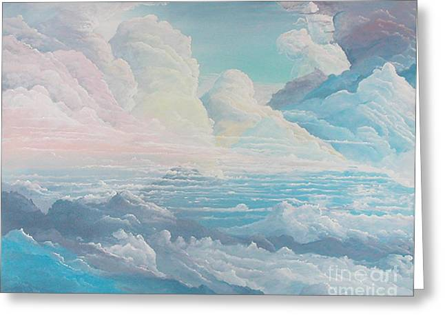 May Colored Clouds Greeting Card by John Wise