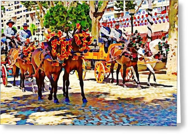 May Day Fair In Sevilla, Spain Greeting Card