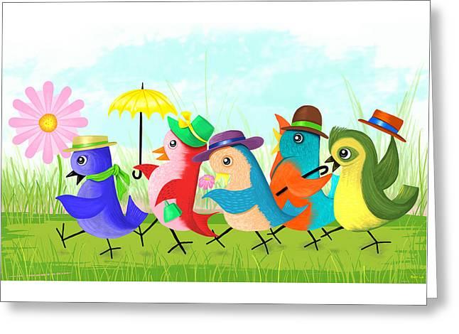 May Day Parade Greeting Card