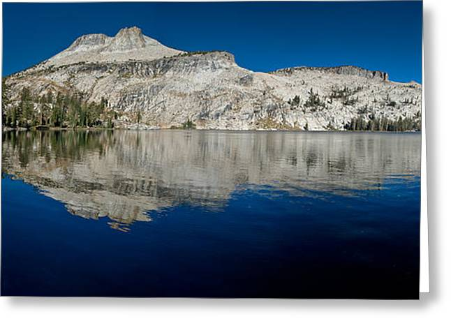 May Lake Panorama Greeting Card