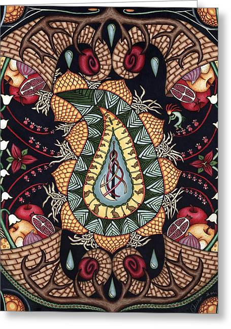 May Mandala Or Fertility Greeting Card by Jess-o
