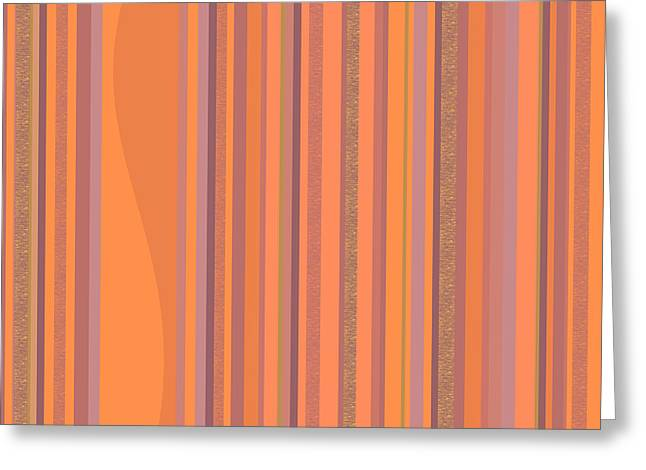 May Morning Vertical Stripes Greeting Card by Val Arie