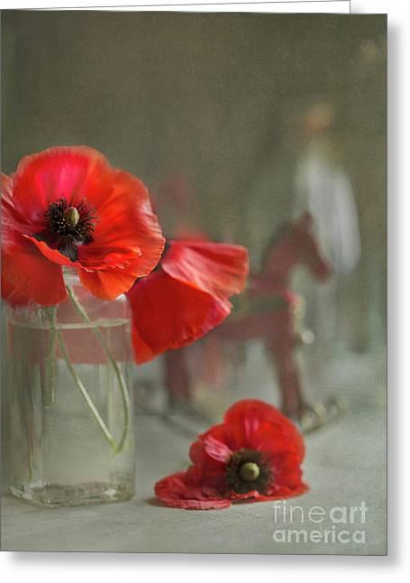 May Poppies Greeting Card by Elena Nosyreva