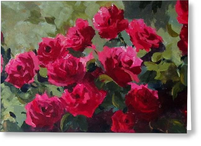 May Roses Greeting Card by Sandra Strohschein
