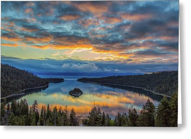 May Sunrise At Emerald Bay Greeting Card
