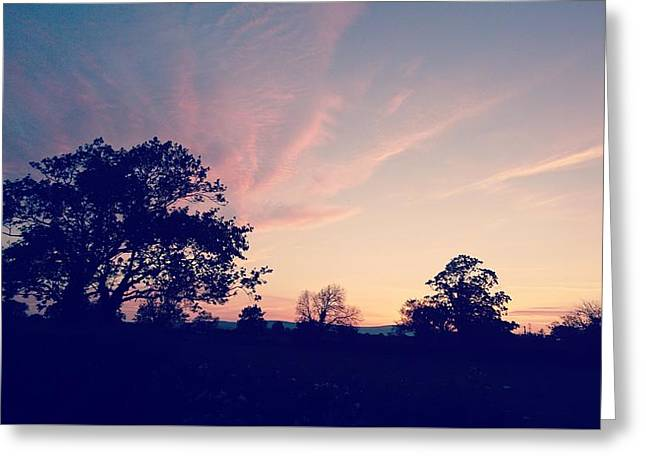 May Sunrise, Lancashire, England Greeting Card