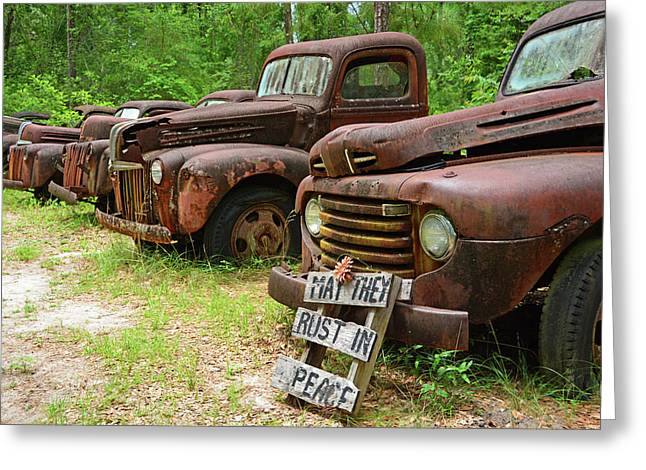 May They Rust In Peace Greeting Card