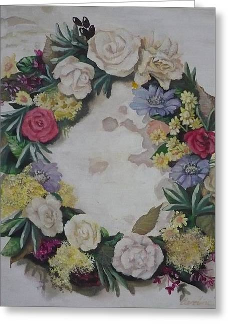 May Wreath Greeting Card