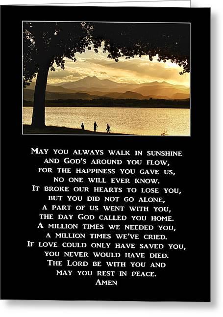 May You Always Walk In Sunshine Prayer Greeting Card