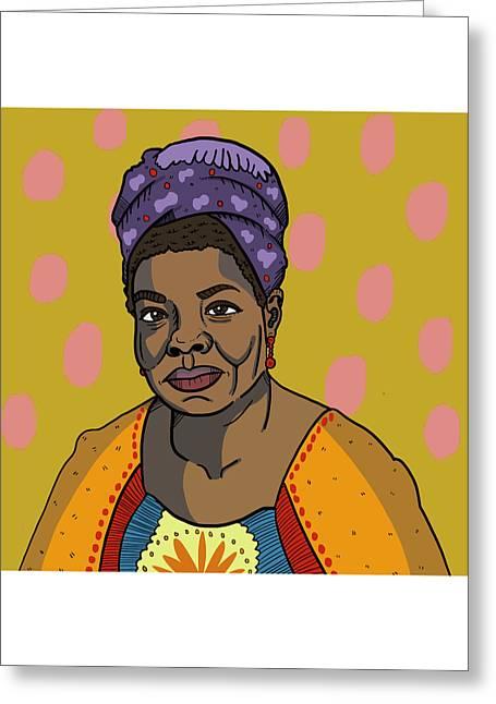 Maya Angelou Greeting Card by Nicole Wilson