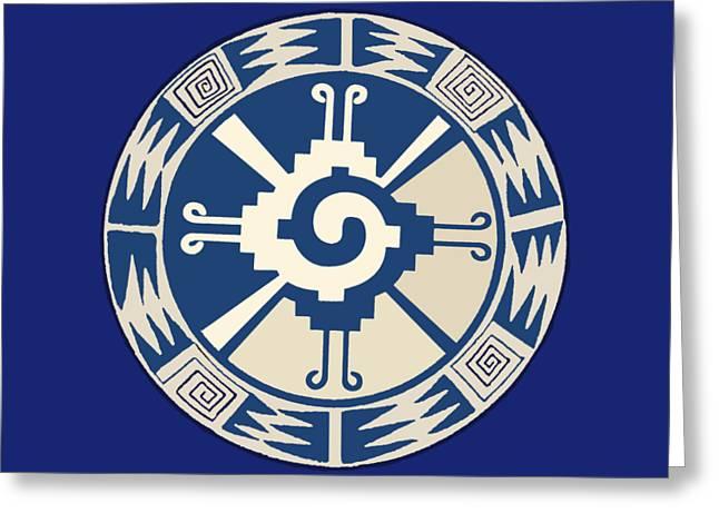 Mayan Hunab Ku Design Greeting Card