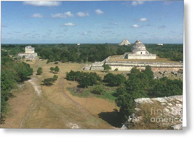 Mayan Observatory, Mexico Greeting Card by Granger