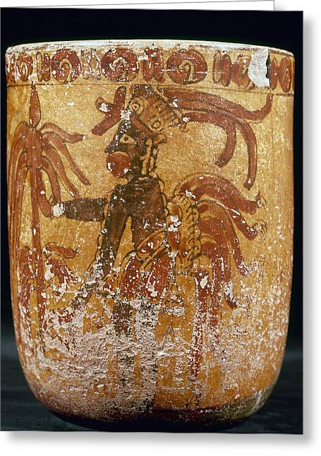 Indian Vase Greeting Cards - Mayan Priest 700-900 Ad Greeting Card by Granger