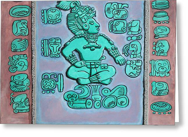 Greeting Card featuring the painting Mayan Prince by Antonio Romero