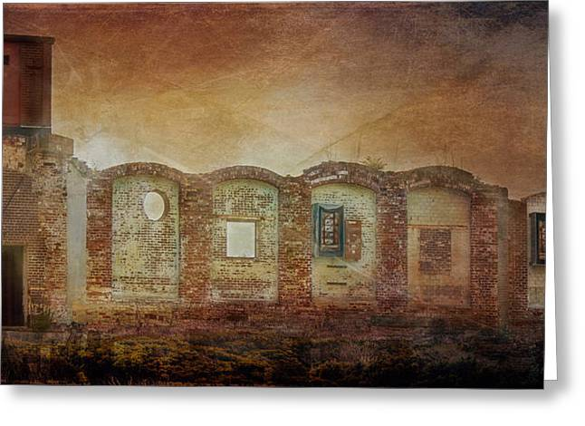 Mayfair Mills Ruins Easley South Carolina Greeting Card by Bellesouth Studio