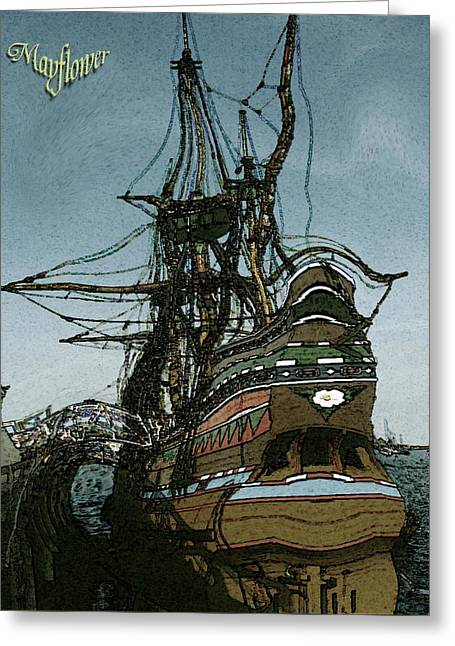 Mayflower - Historic Sailing Ship Greeting Card by Art America Online Gallery