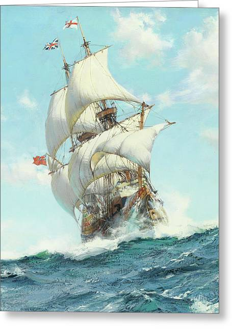 Mayflower II - Detail Greeting Card