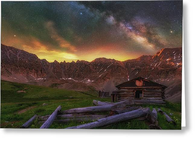 Greeting Card featuring the photograph Mayflower Milky Way by Darren White