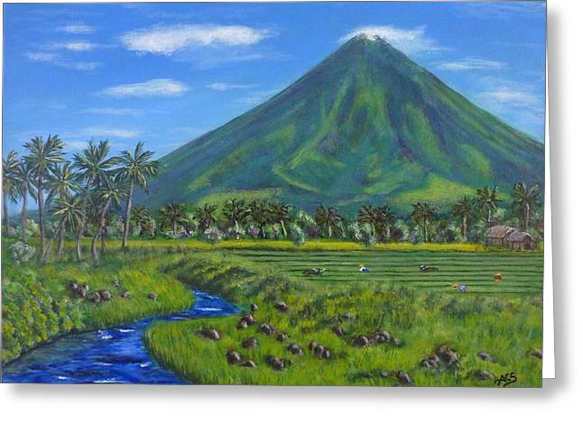 Mayon Volcano Greeting Card