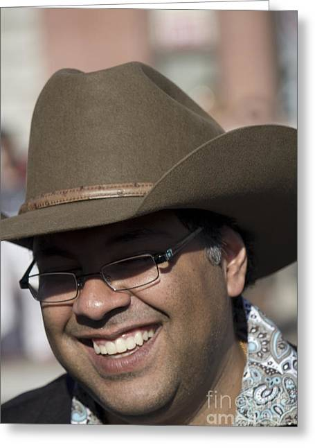 Mayor Nadeed Nenshi Greeting Card by Donna Munro