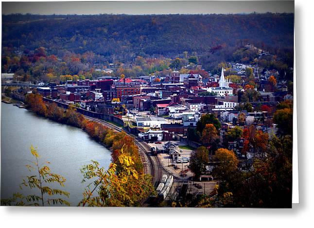 Birdseye Greeting Cards - Maysville Kentucky Greeting Card by Susie Weaver