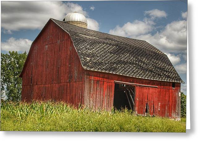 0023 - Mayville Red I Greeting Card