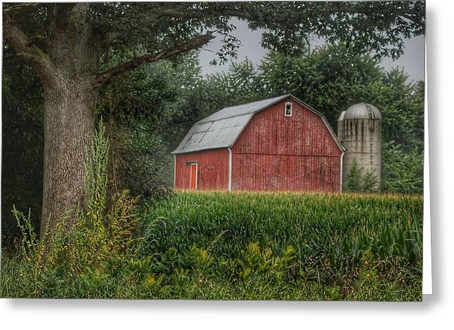 0027 - Mayville's Lapeer Road Red Greeting Card